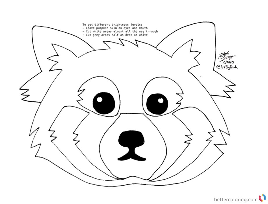 red panda coloring page - red panda drawing coloring pages