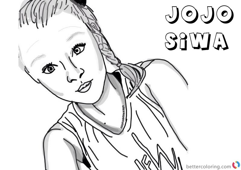 Jojo Siwa Coloring Pages By Drawingiconss Free Printable Coloring