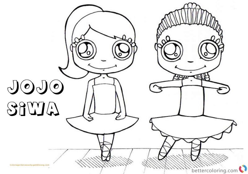 Jojo Siwa Coloring Pages With Coloriage Danseuse Free Printable