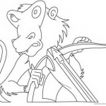Jumanji Coloring Pages Animated Series Monkey with Mask