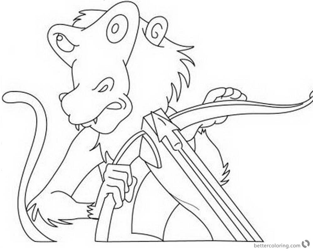 Jumanji Coloring Pages Animated Series Monkey with Mask printable for free