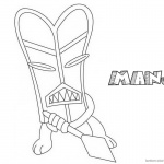 Jumanji Coloring Pages Animated TV Series The Manjis Black and White