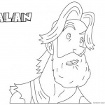 Jumanji Coloring Pages Animated Tv Series Alan