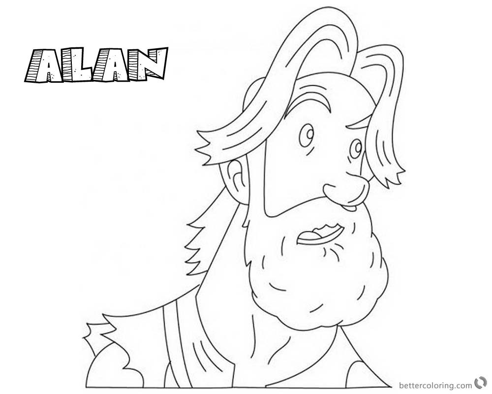 Jumanji Coloring Pages Animated Tv Series Alan printable for free