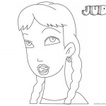 Jumanji Coloring Pages Animated Tv Series Judy
