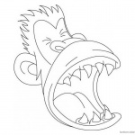 Jumanji Coloring Pages Animated Tv Series Monkey Clipart