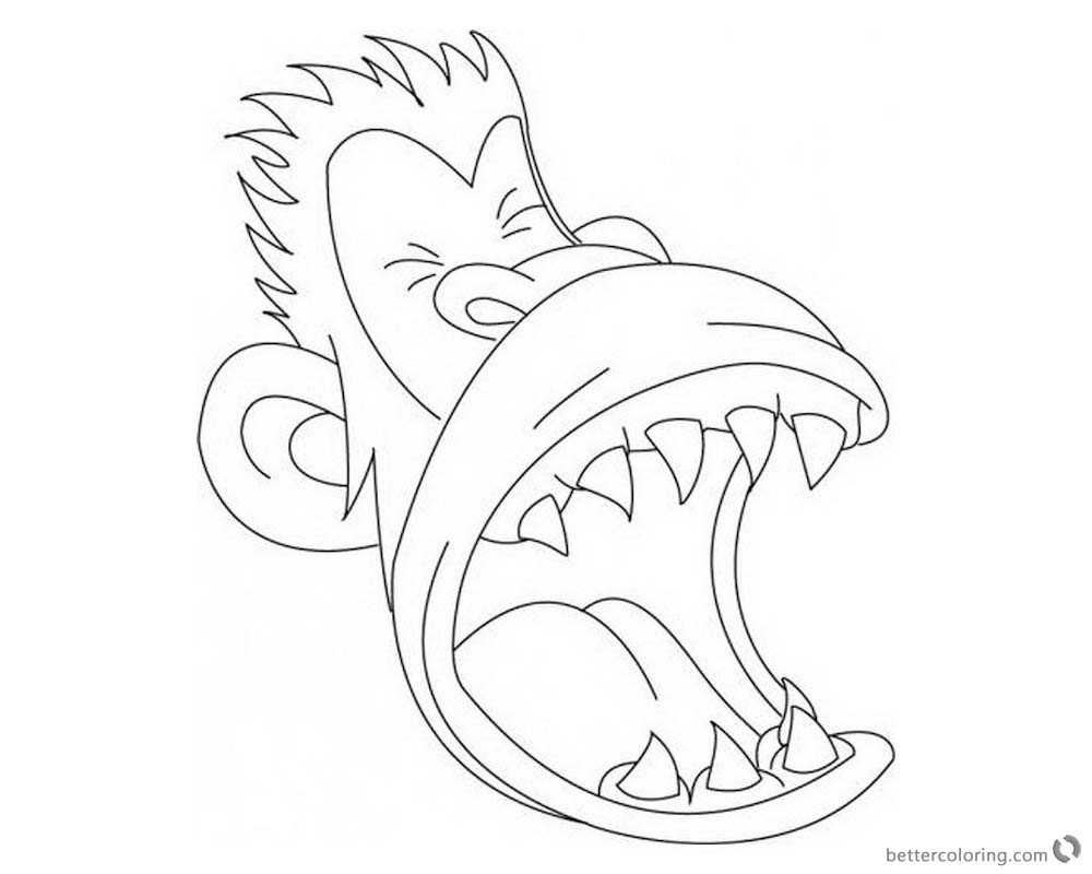 Jumanji Coloring Pages Animated Tv Series Monkey Clipart printable for free