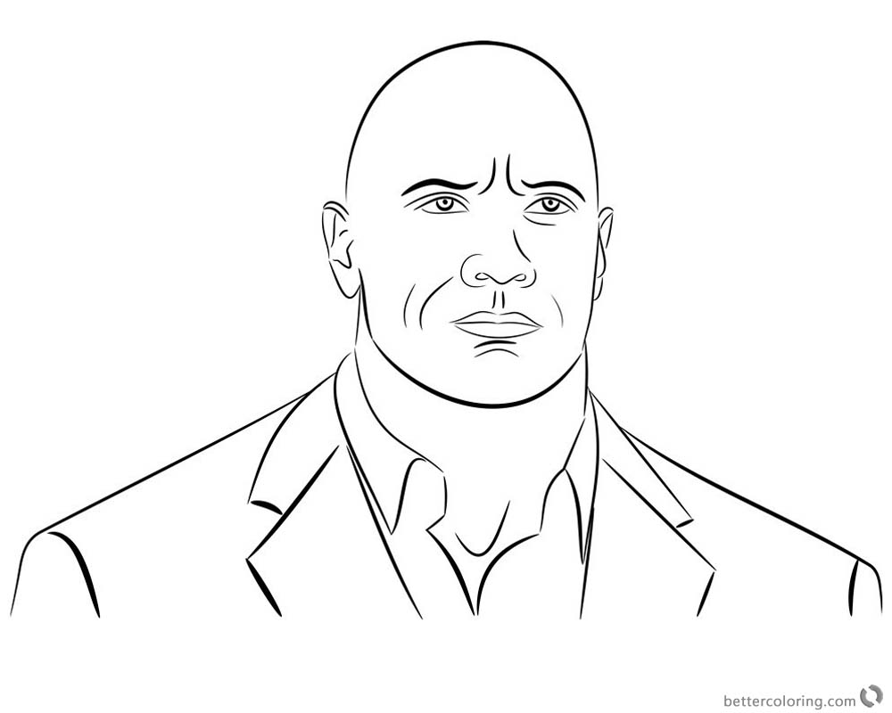 Jumanji Coloring Pages Dwayne Johnson Clipart welcome to the jungle printable for free