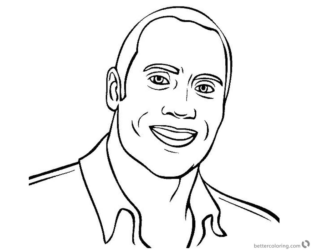 Jumanji Welcome To The Jungle Coloring Pages Dwayne