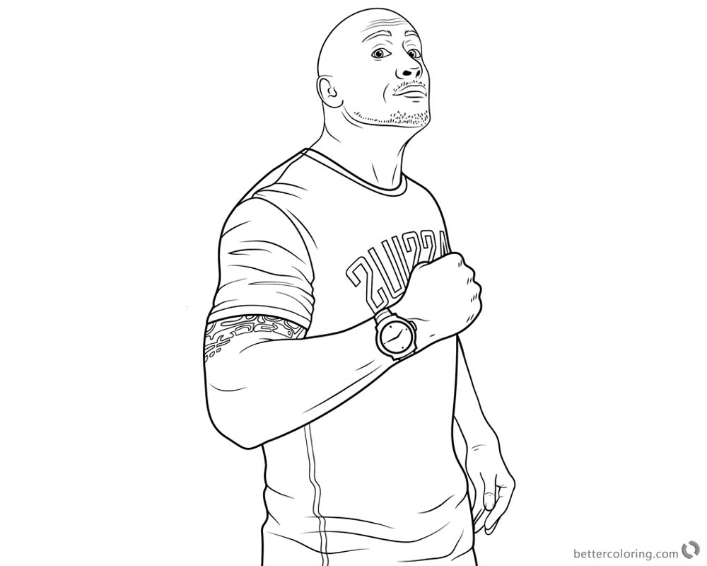 jumanji coloring pages | Jumanji Welcome to the Jungle Coloring Pages Dwayne ...