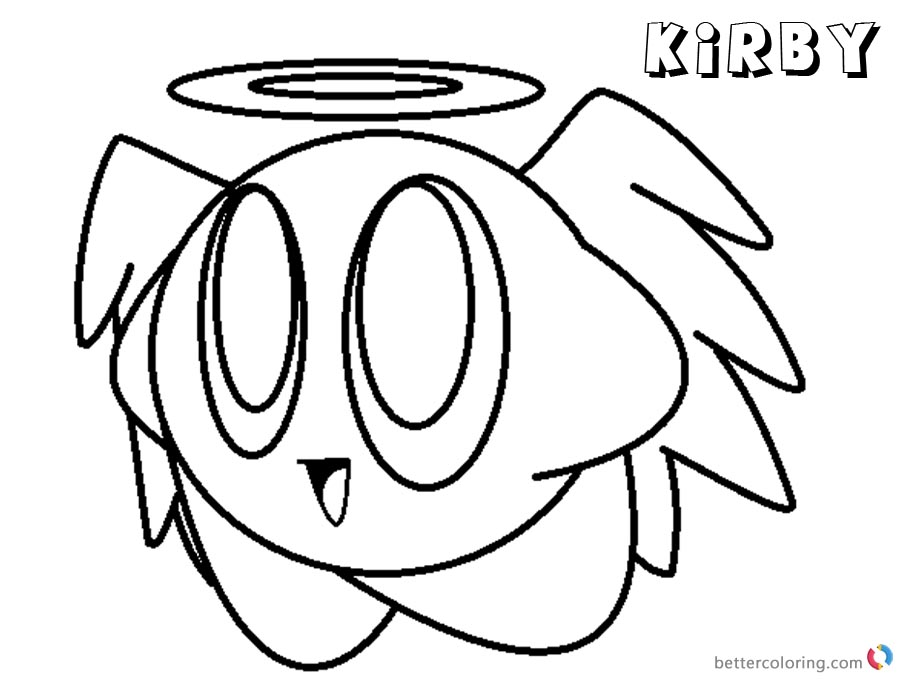 Kirby Coloring Pages Angel Kirby Base printable and free