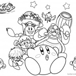 Kirby Coloring Pages Characters Picture