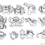 Kirby Coloring Pages Concept Art Kood Kirby Compound Abilities