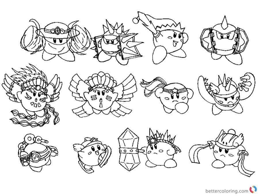 Vistoso Kirby Coloring Pages Poderes Friso - Dibujos Para Colorear ...
