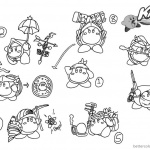Kirby Coloring Pages Concept Art Kood Waddle Dee Abilities