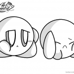 Kirby Coloring Pages Crying Kirby Base