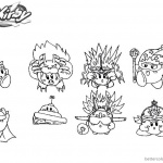 Kirby Coloring Pages Cute Fanart