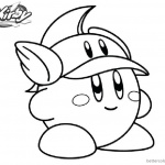 Kirby Coloring Pages Cute Hat