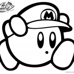 Kirby Coloring Pages Disegn Mario