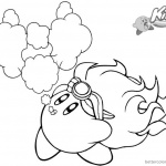 Kirby Coloring Pages Fire