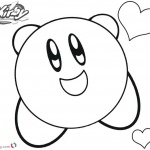 Kirby Coloring Pages Happy Heart
