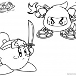 Kirby Coloring Pages Ninja Kirby