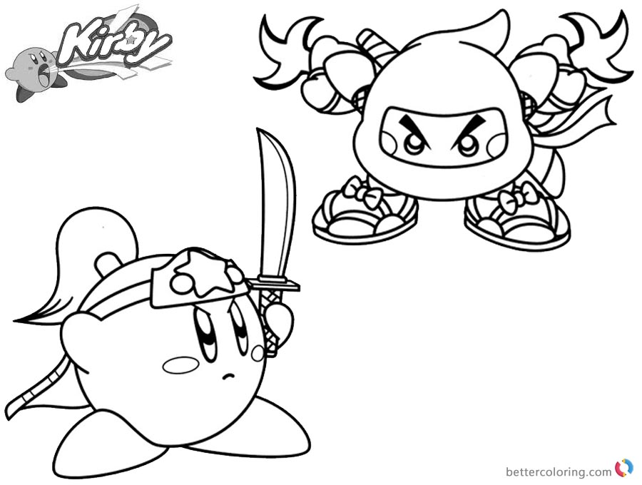 Nintendo Kirby Coloring Pages To Print Dibujos Para Colorear