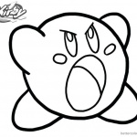 Kirby Coloring Pages Out of Temper