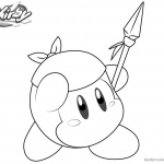 Kirby Coloring Pages Picture Bandana Waddle Dee