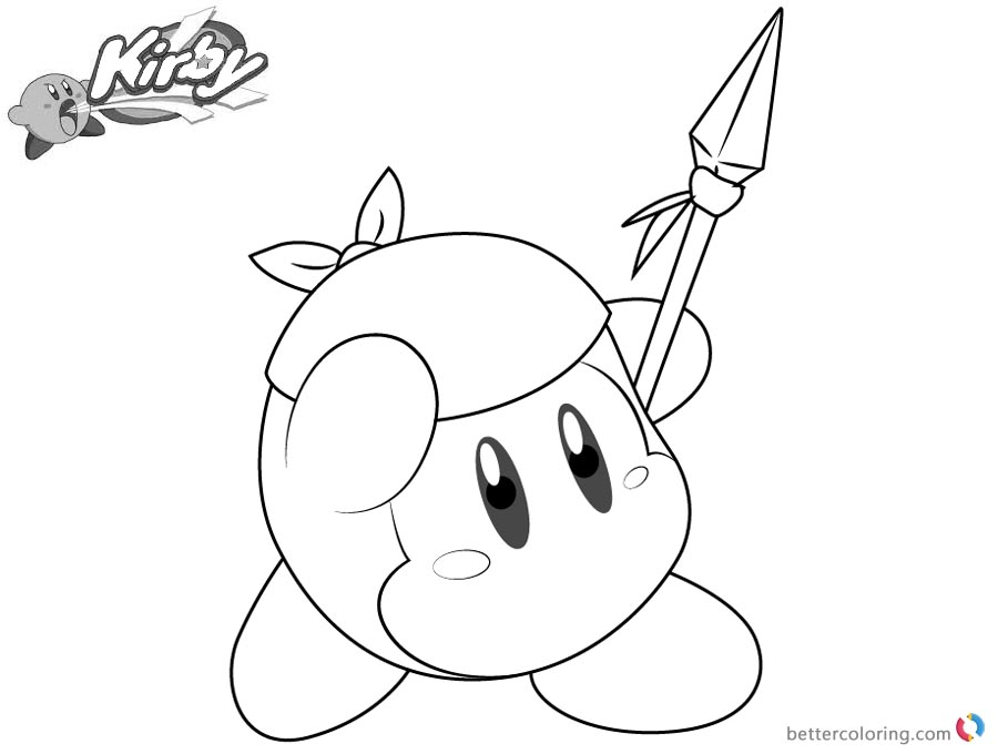 Kirby Coloring Pages Picture Bandana Waddle Dee printable and free