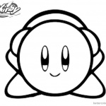 Kirby Coloring Pages Picture Headphone