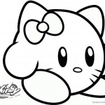 Kirby Coloring Pages Picture Hello Kitty Kirby