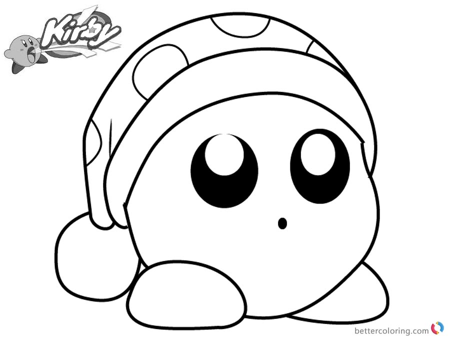 Beautiful Kirby Coloring Pages Picture Noddy Free Printable