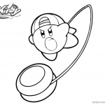 Kirby Coloring Pages Playing YoYo