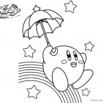 Kirby Coloring Pages Rainbow