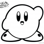 Kirby Coloring Pages Say Hi
