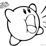 Kirby Coloring Pages Shouting