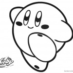 Kirby Coloring Pages Simple Happy Kirby Picture