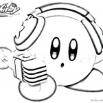 Kirby Coloring Pages Singer Style