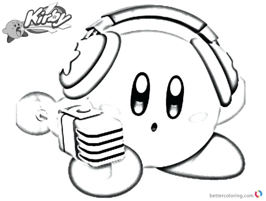 Kirby Coloring Pages Singer Style printable and free