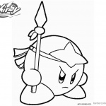 Kirby Coloring Pages Spear Kirby Picture