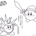 Kirby Coloring Pages Sword Needle Kirby