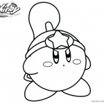 Kirby Coloring Pages Warrior Drawing