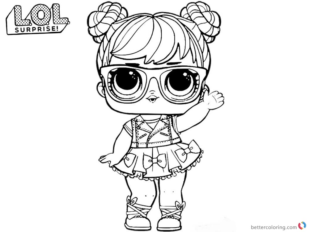 Lol Coloring Pages Big Eyes Doll Free Printable Coloring