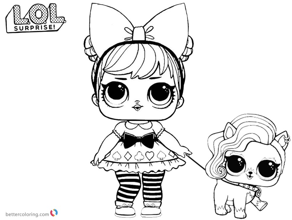 LOL Coloring Pages Curious Qt with pet - Free Printable ...
