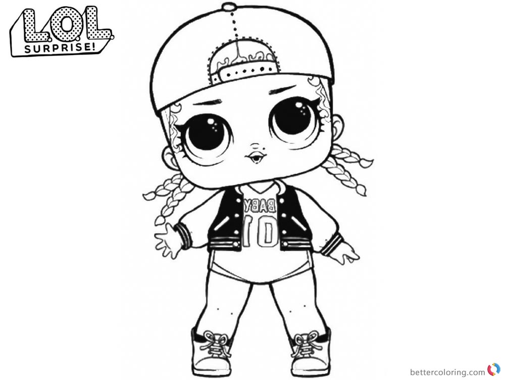 LOL Coloring Pages Cute MC Swag printable
