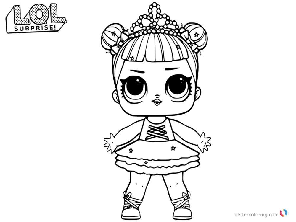 LOL Coloring Pages Glitter Center Stage Free Printable