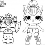 LOL Coloring Pages Kitty Queen