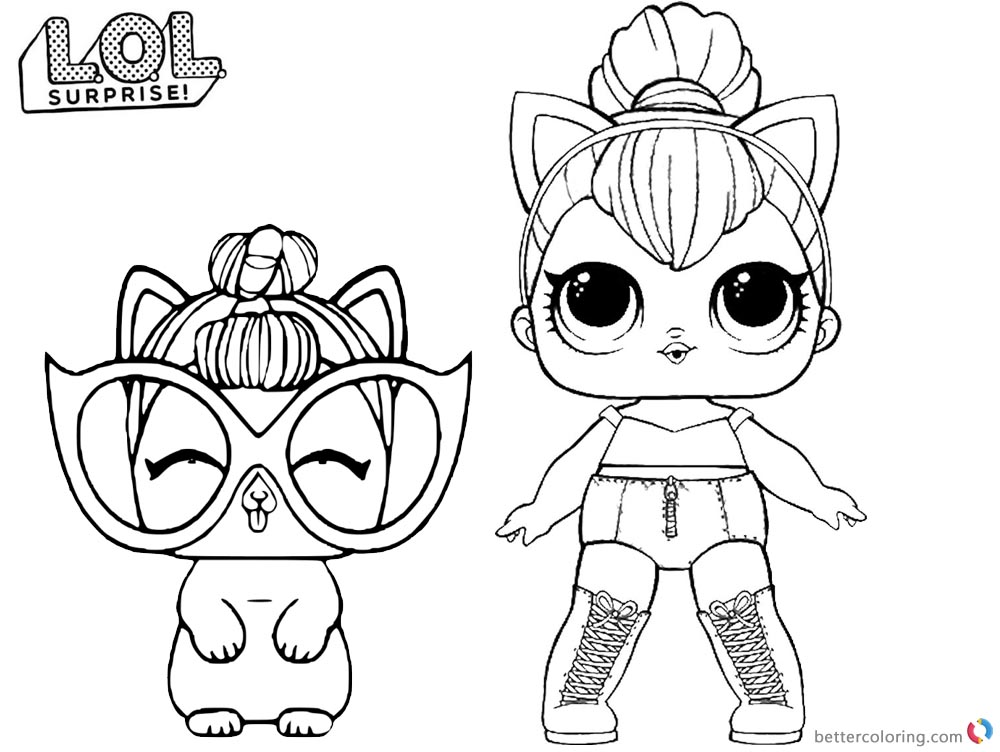 Coloring Pages Lol Kitty Queen Printable Sam Kean Coloring