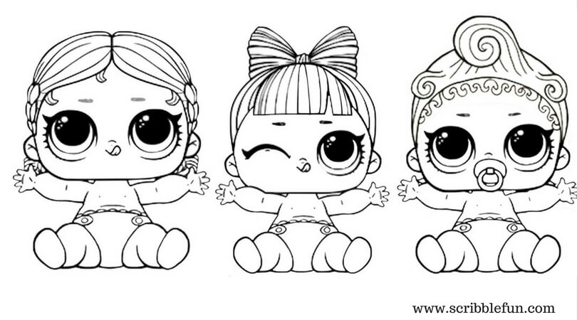 lol coloring pages baby dolls